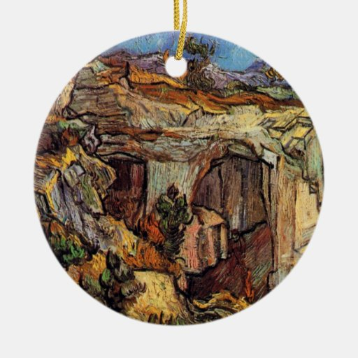 Van Gogh - Entrance To A Quarry Near Saint Remy Christmas Ornament