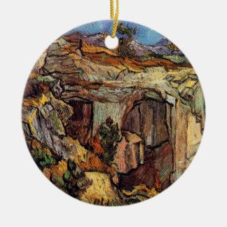 Van Gogh - Entrance To A Quarry Near Saint Remy Round Ceramic Decoration