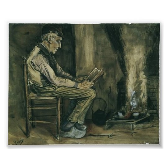 Van Gogh - Farmer sitting at the fireside,