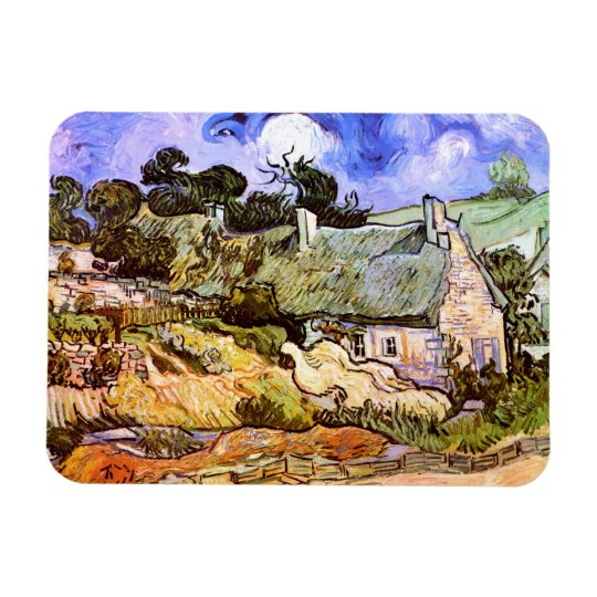 Van Gogh: Farmers Cottage in Cordeville Rectangular Photo Magnet