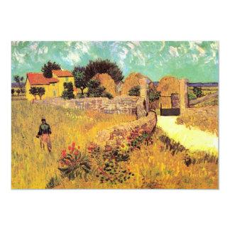 Van Gogh Farmhouse in Provence, Vintage Fine Art 13 Cm X 18 Cm Invitation Card