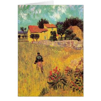 Van Gogh Farmhouse in Provence, Vintage Fine Art Card