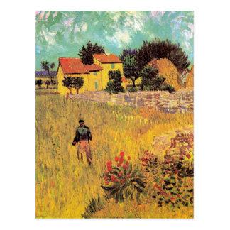 Van Gogh Farmhouse in Provence, Vintage Fine Art Postcard