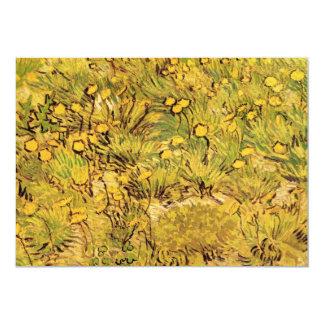 Van Gogh Field of Yellow Flowers, Vintage Fine Art 13 Cm X 18 Cm Invitation Card