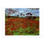 Van Gogh Field with Poppies Fine Art Postcard