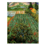 Van Gogh; Field with Poppies, Vintage Landscape Post Cards