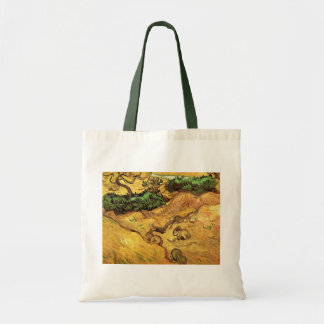 Van Gogh Field with Two Rabbits, Vintage Fine Art Tote Bag