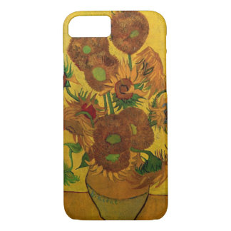Van Gogh Fine Art Flowers, Vase with 15 Sunflowers iPhone 8/7 Case