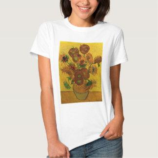 Van Gogh Fine Art Flowers, Vase with 15 Sunflowers Shirt