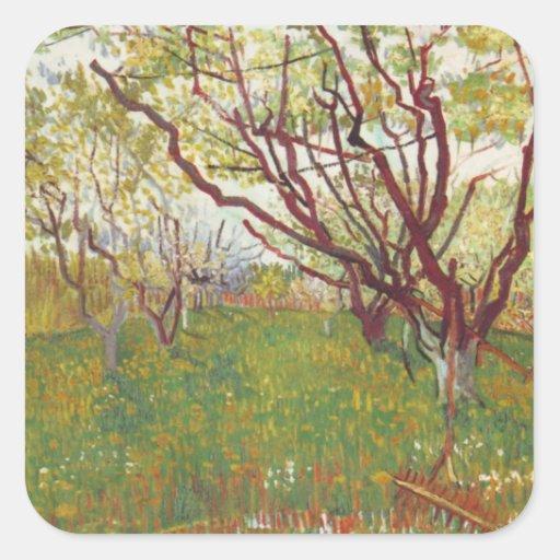 Van gogh fine art painting sticker