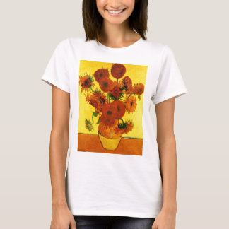 Van Gogh Fine Art, Vase with 15 Sunflowers T-Shirt