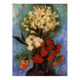 Van Gogh Fine Art Vase with Carnations and Flowers Postcard