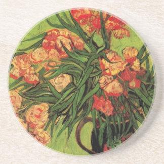 Van Gogh Fine Art, Vase with Oleanders and Books Sandstone Coaster