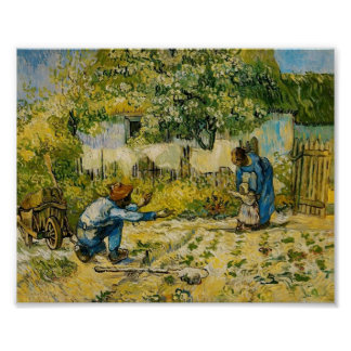 Van Gogh - First Steps (after Millet) Poster