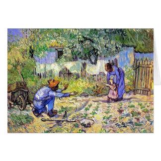 Van Gogh - First Steps Greeting Card
