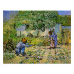 Van Gogh, First Steps, Vintage Impressionism Art