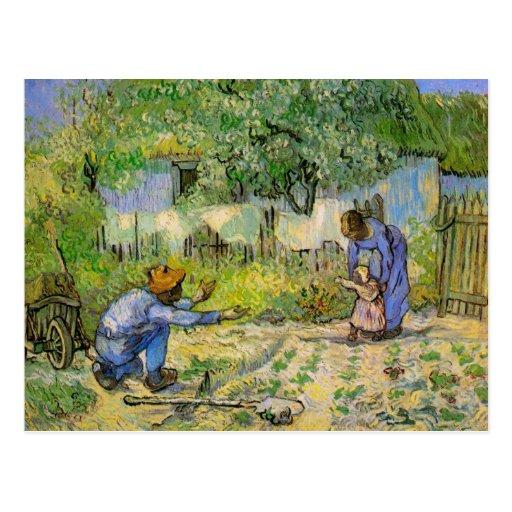Van Gogh, First Steps, Vintage Impressionism Art Post Card