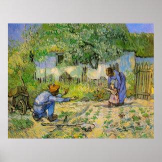 Van Gogh First Steps Vintage Impressionism Art Poster