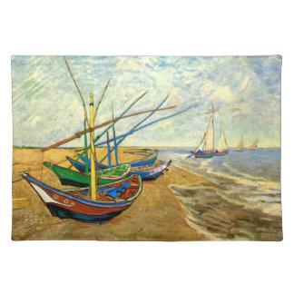 Van Gogh Fishing Boats on Beach at Saintes Maries Placemat