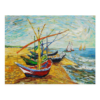 Van Gogh Fishing Boats Postcard
