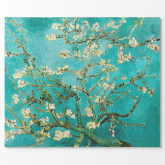 Van Gogh Floral Almond Tree Wrapping Paper
