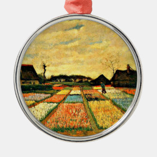 Van Gogh - Flower Beds in Holland Silver-Colored Round Decoration