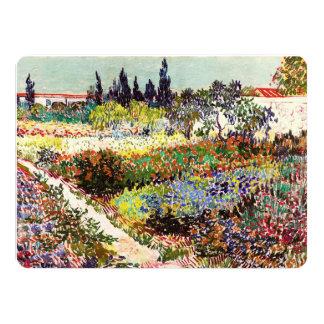 Van Gogh Flowering Garden At Arles Floral Fine Art 14 Cm X 19 Cm Invitation Card