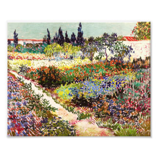 Van Gogh Flowering Garden At Arles Floral Fine Art Photo Print