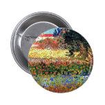 Van Gogh Flowering Garden Button