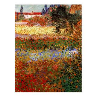 Van Gogh Flowering Garden (F430) Fine Art Postcard