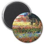 Van Gogh Flowering Garden Magnet