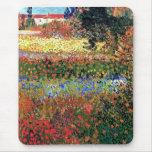 Van Gogh Flowering Garden Mousepad