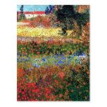 Van Gogh Flowering Garden Postcard