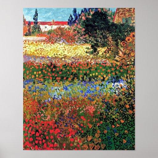 Van Gogh - Flowering Garden Poster