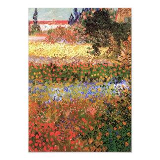 Van Gogh Flowering Garden, Vintage Floral Fine Art 13 Cm X 18 Cm Invitation Card