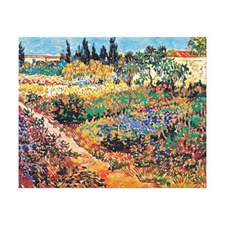 Van Gogh - Flowering Garden With Path Stretched Canvas Print