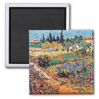 Van Gogh - Flowering Garden With Path Refrigerator Magnet