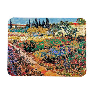 Van Gogh - Flowering Garden With Path Rectangle Magnets