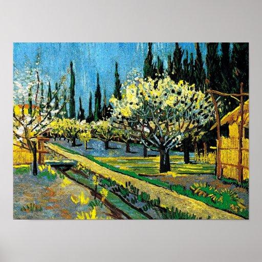van gogh - Flowering Orchard Poster