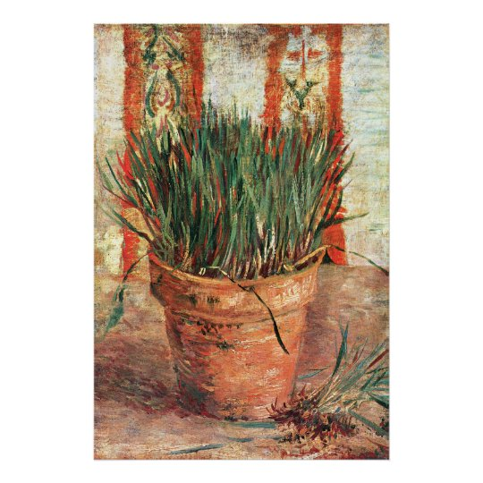Van Gogh: Flowerpot with Chives Poster