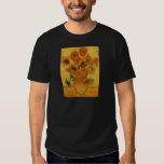 Van Gogh Flowers Art, Vase with 15 Sunflowers Shirt