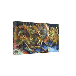 Van Gogh - Four Sunflowes gone to Seed Canvas Print