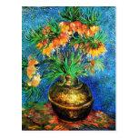 Van Gogh Fritillaries Copper Vase (F213) Fine Art
