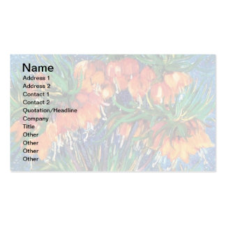 Van Gogh - Fritillaries In A Copper Vase Business Card Template