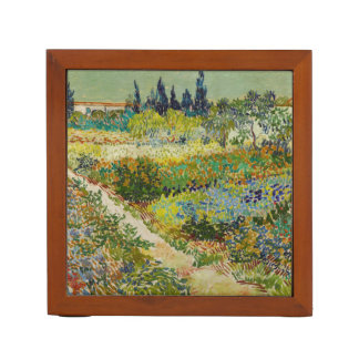Van Gogh Garden at Arles Desk Organizer Pencil/Pen Holder