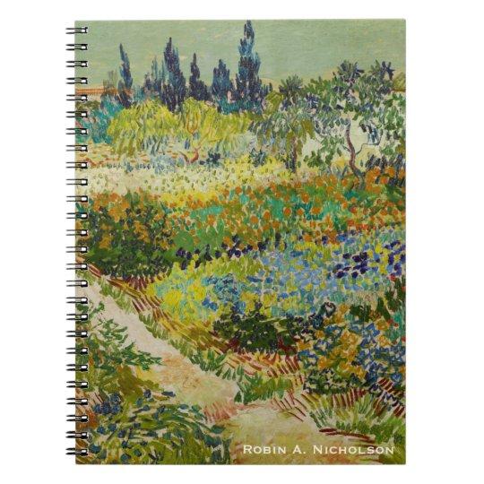 Van Gogh Garden at Arles Personalised Spiral Notebook