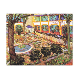 Van Gogh - Garden Of The Hospital In Arles Stretched Canvas Prints