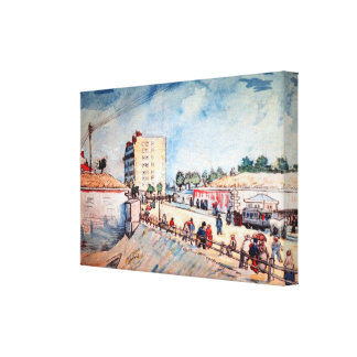 Van Gogh; Gate in Paris Ramparts, Vintage Fine Art Gallery Wrapped Canvas