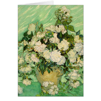 Van Gogh Gifts Still Life w/ Roses Impressionism Card