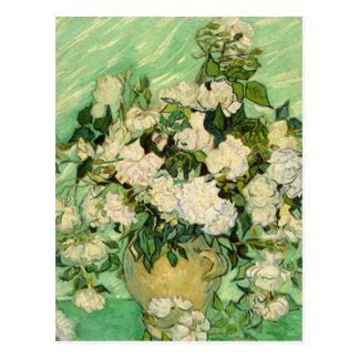 Van Gogh Gifts Still Life w/ Roses Impressionism Postcard